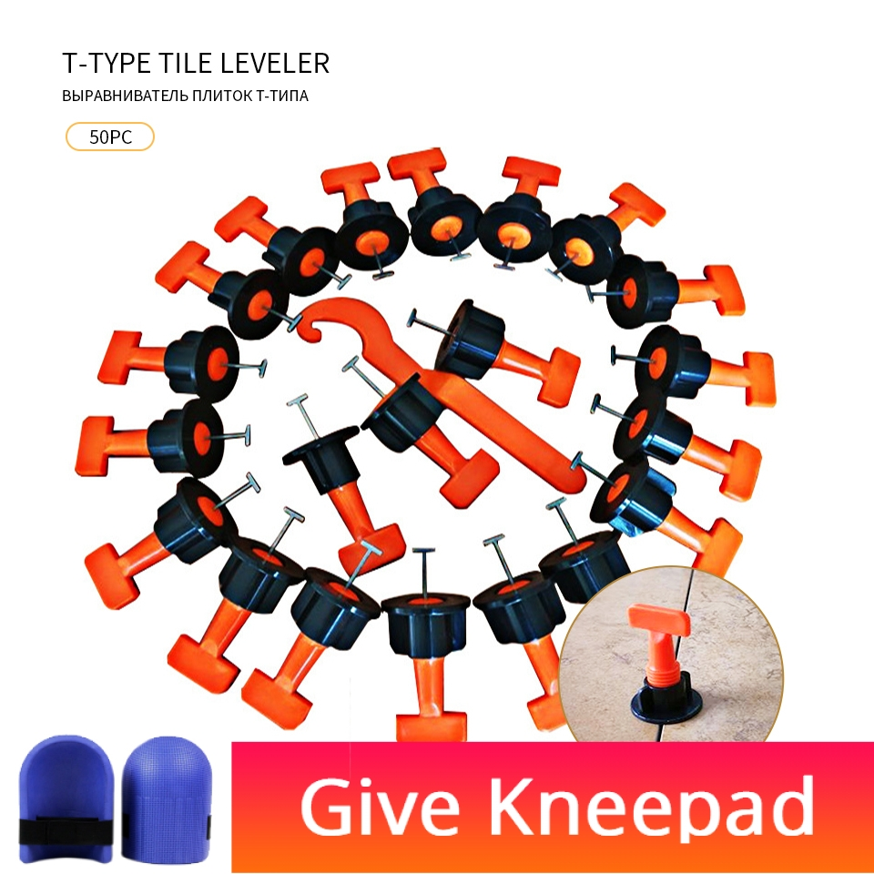 50pc Floor Tile Tool Reusable For Bricklayer Leveler Plastic Clip Adjustable Locator Tile Leveling System Lechada De Azulejos