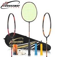 racket CROSSWAY Badminton Racket 24 26LBS carbon badminton racket with badminton bag