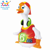 HUILE TOYS Electronic Toy Intelligent Hip Pop Dance Read Tell Story Interactive Swing Goose Musical Educational