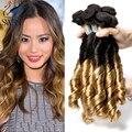 Spiral Curl Weave Virgen Haz de Pelo indio 4 unids 100% Indian Ombre 7A Venta Caliente Ombre Pelo Indio de la Virgen Del Pelo Humano pelo