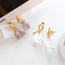 The new lady knot eardrop female delicate personality stud earrings Wearing a simple South Korea fashion jewel