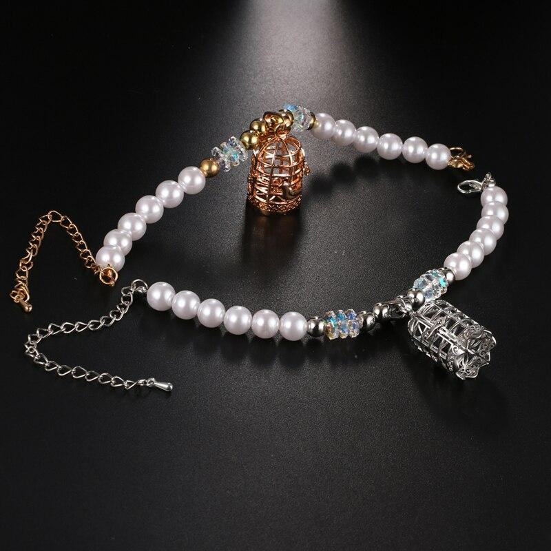 SHIYING (5 Free felt beads ) aromatherapy lockets bracelet bird cage women snow Hollow Essential Oils diffuser bracelet