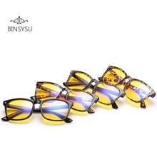 2018Anti Blue Rays Computer Glasses Men Radiation-resistant Gaming Glasses Women anti fatigue yellow lenses Eyewear