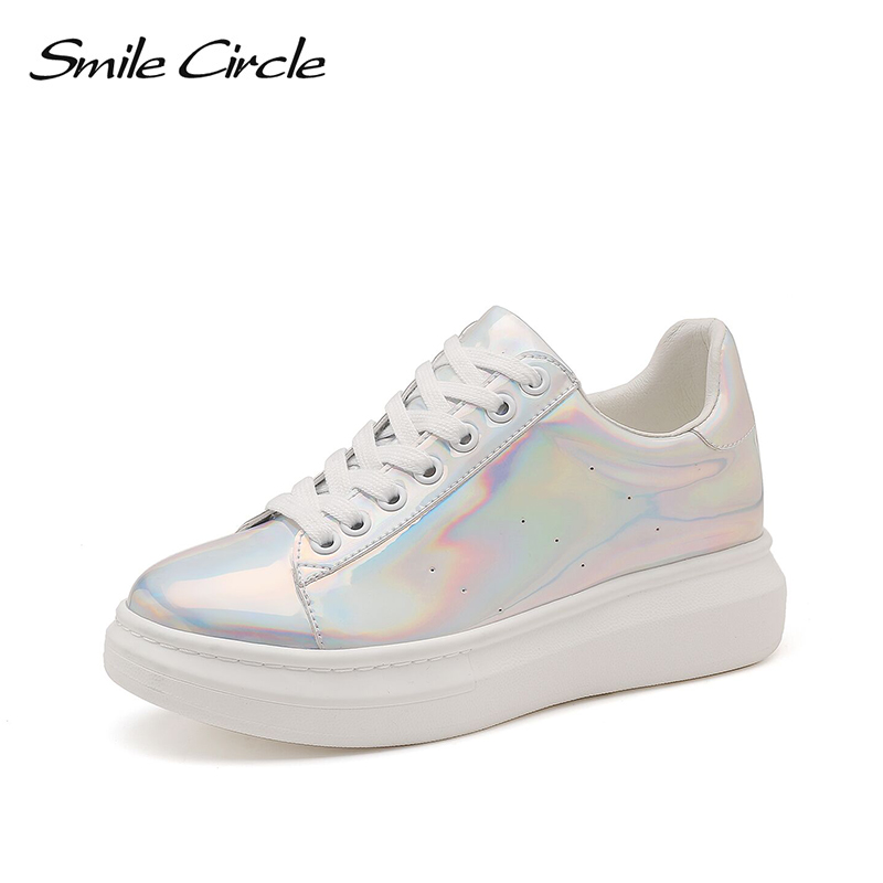 2019 Spring Wedge sneakers Women Flat platform Shoes Fashion Sequin heart Casual Shoes Women Lace-Up white Sneakers Shoes  2019 Spring Wedge sneakers Women Flat platform Shoes Fashion Sequin heart Casual Shoes Women Lace-Up white Sneakers Shoes