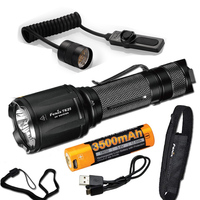 Fenix TK25 UV 1000 Lumens white/3000mW ultra violet (UV) Dual Beam LED Flashlight (TK25UV) with Battery,USB Cable,AER 03 Switch