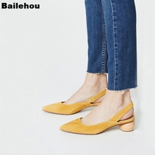 Women Sandals Med Heels Slides Pointed Toe Back Strap Shoes Brand Designer Ball Heel Gladiator Stiletto Wedding Dress Pump Shoes