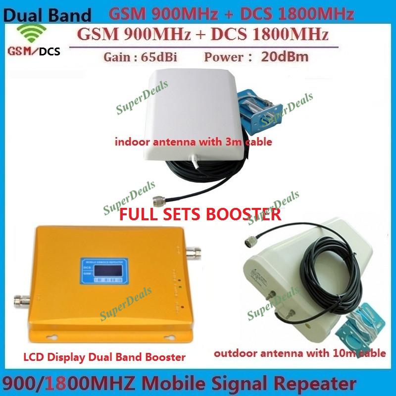 LCD Display Dual band GSM DCS 2G Cell phone Repeater BOOSTER GSM 900 1800 REPEATER Amplifier