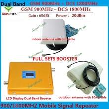 Wyświetlacz LCD dwuzakresowy GSM DCS 2G telefon komórkowy Repeater BOOSTER Antena GSM 900 1800 Wzmacniacz REPEATER z LDPA i Antena Panelowa
