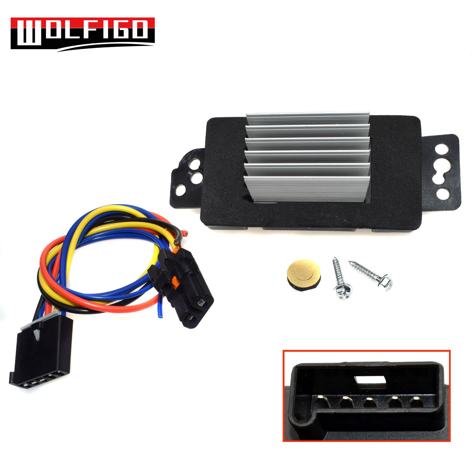 Us 19 23 26 Off Wolfigo Hvac Blower Motor Resistor W Plug Harness For 05 09 Buick Lacrosse Chevrolet Impala 10325408 10356906 10397570 1580888 In