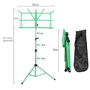 Image 5 - Soporte plegable para trípode de música soporte de aleación de aluminio altura ajustable con bolsa de transporte para instrumento de guitarra y violín