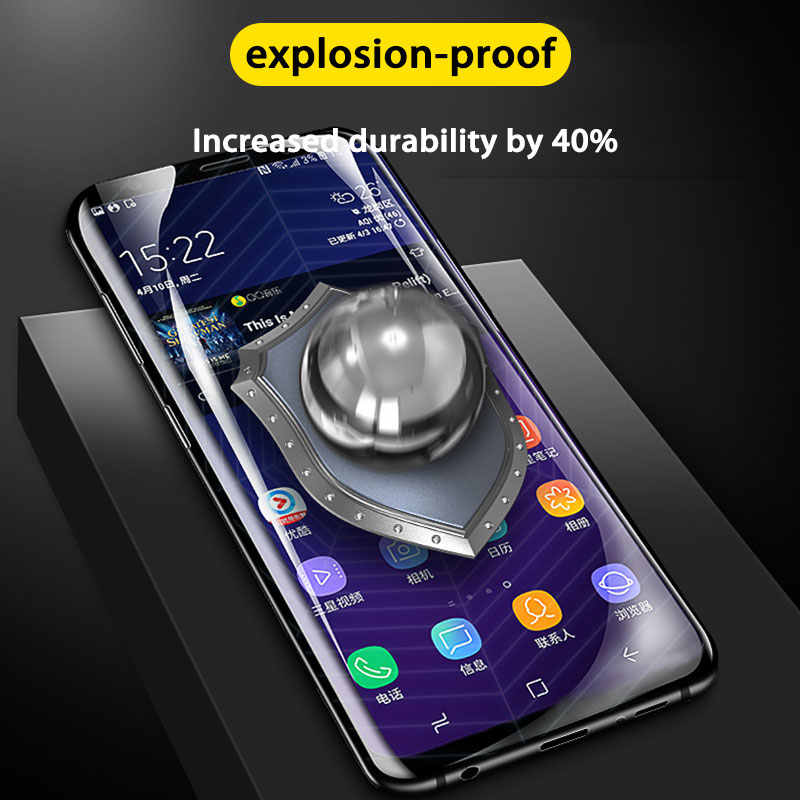 Ochraniacz ekranu pełna pokrywa dla Samsung Galaxy S8 S10 S9 Plus hydrożel folia ochronna dla S10e uwaga 9 8 S7 S6 ochrona krawędzi