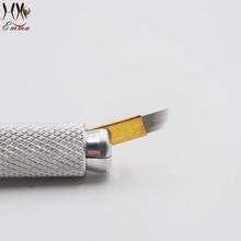 купить Free shipping 50Pcs Superior Blades For Permanent Makeup Manual Pen Single Packaged по цене 830.42 рублей