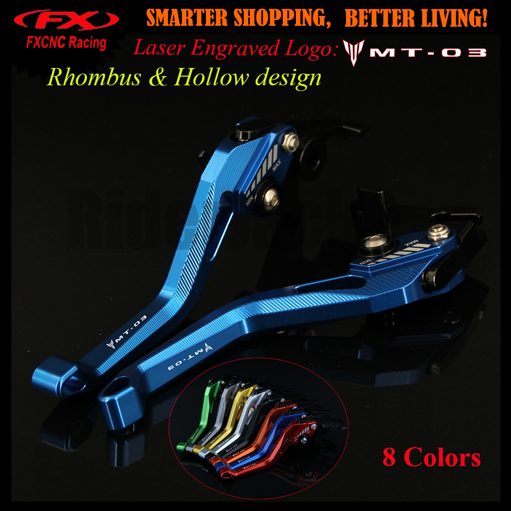 New 3D Rhombus Hollow Design patent For Yamaha MT-03 MT 03 MT03 2006-2011 2008 2009 2010 CNC Blue Motorcycle Brake Clutch Levers golf 3 td 2011