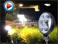 Free Ship 12W 10 30V LED Working Light 2pcs Set Black 6500K For Excavator Light Bicycle