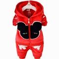 Новый 2015 Малышей Мальчики Комплект Одежды Зима Осень Дети Комплект Одежды Vetement Гарсон Spiderman Дети Мальчики Одежда Наборы