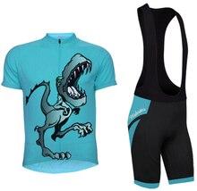 2016 mountain bike cycling jersey dinosaur print cycling clothing short sleeve summer MTB bicycle clothes