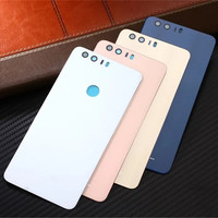 Honor8 Official Original Tempered Glass Surface Cover Case For Huawei Honor 8 Back Battery Cover Housing