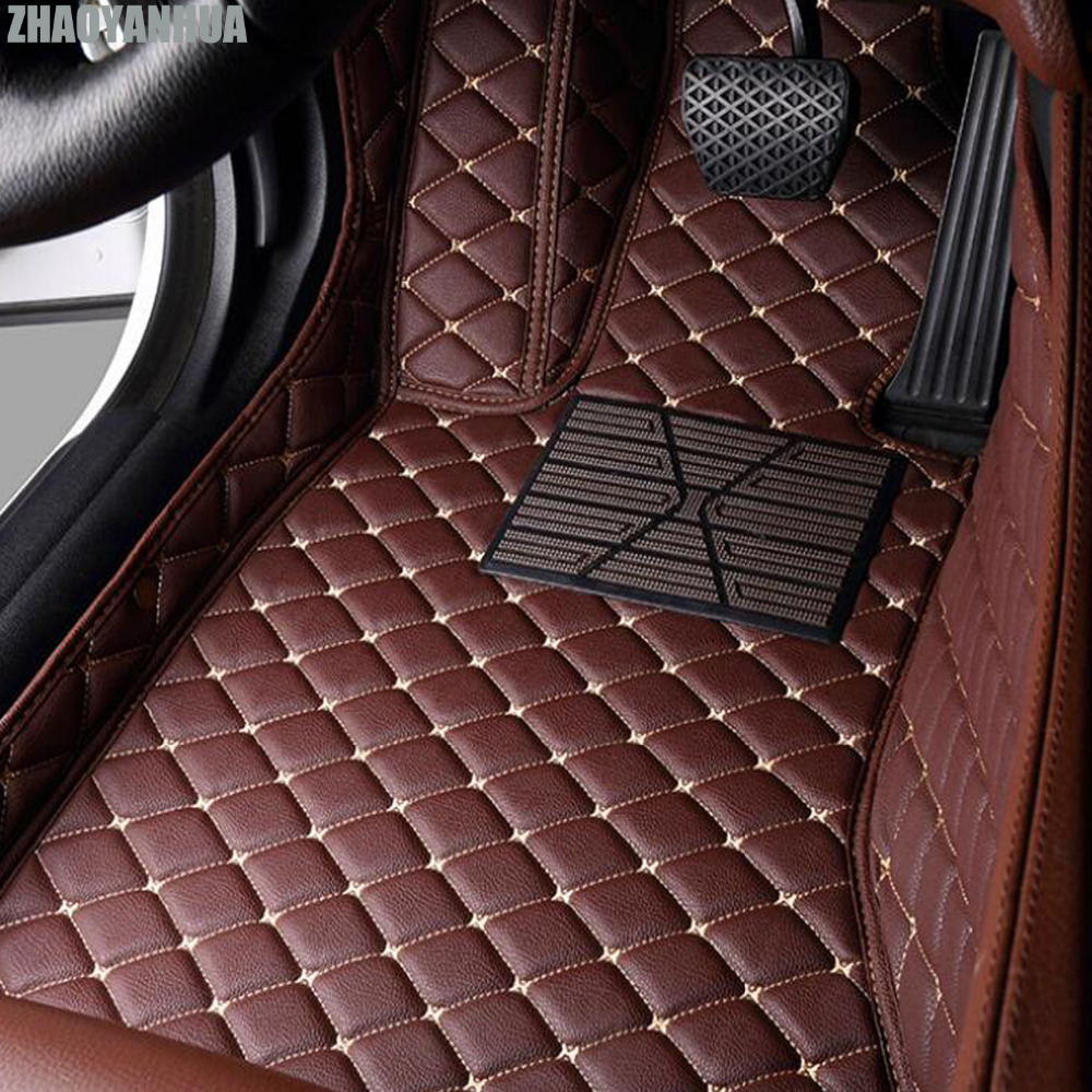 ZHAOYANHUA car floor mats for Peugeot 206 207 2008 301 307 308sw 3008 408 508 all weather waterproof car styling liners custom fit car floor mats for peugeot 206 207 2008 301 307 3008 408 4008 508 car styling carpet floor liner