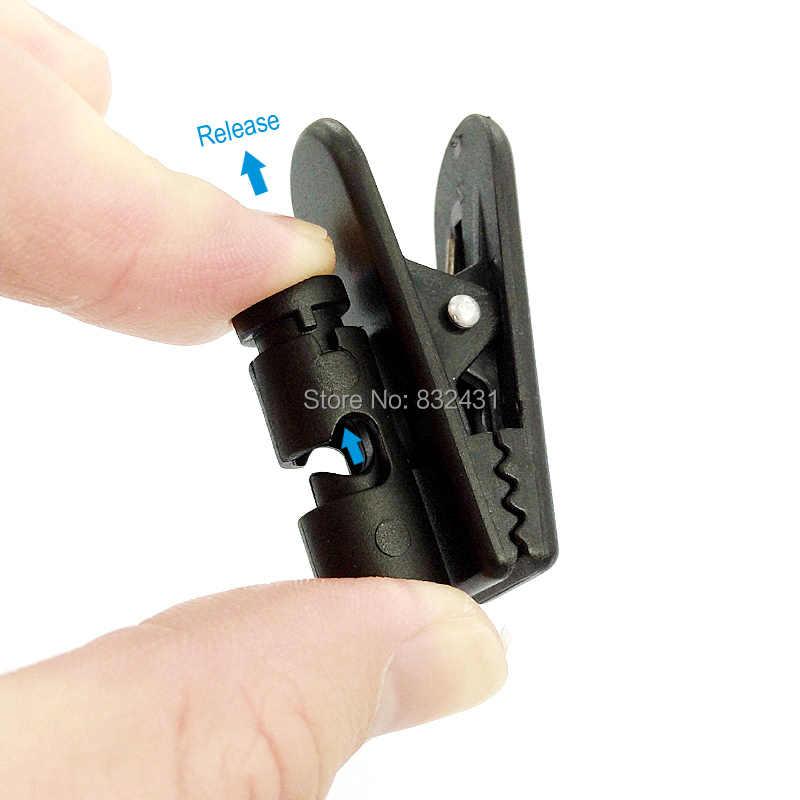 多目的携帯電話トランシーバーイヤホンヘッドセットハンドヘルドマイク襟袖クリップ固定データ充電ケーブルクリップ