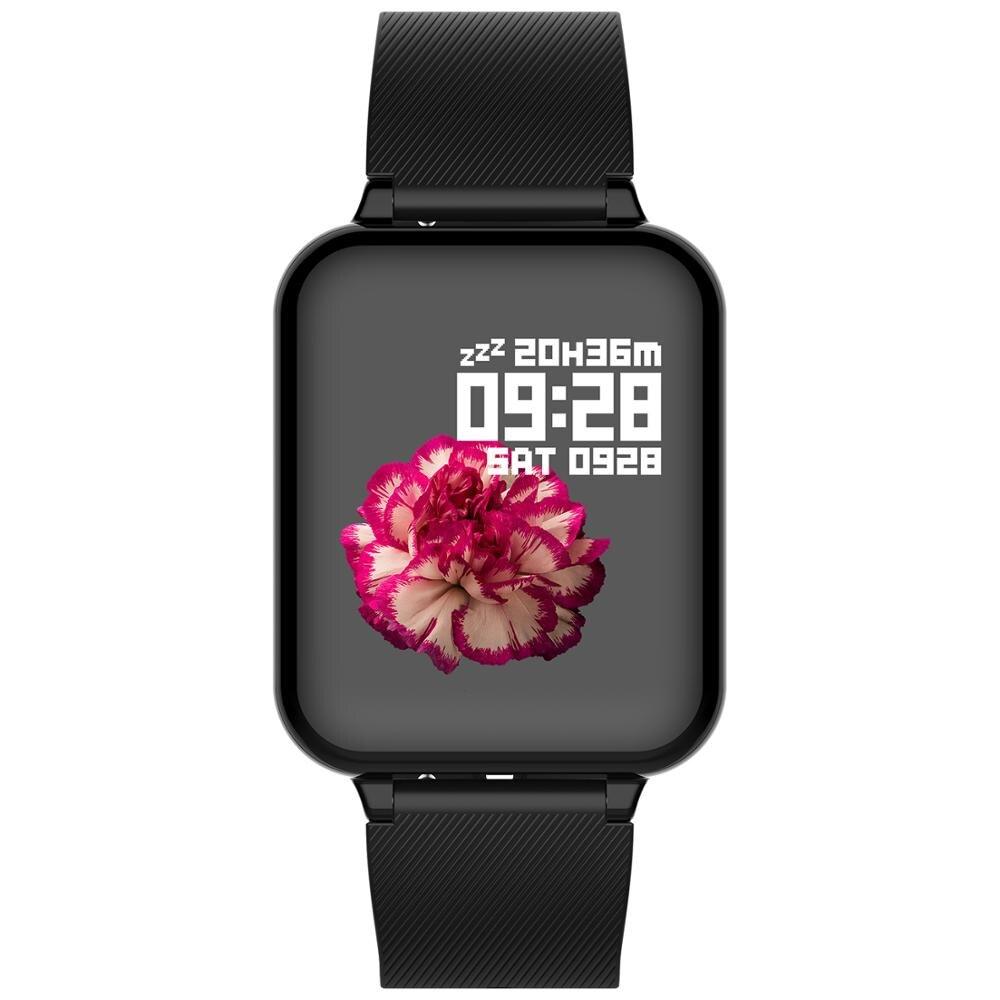 B57 Esporte Relógio da Frequência Cardíaca Monitor de Pressão Arterial Inteligente Rastreador De Fitness Men Wearable Dispositivos Para Iphone android telefone PK Q9 p68