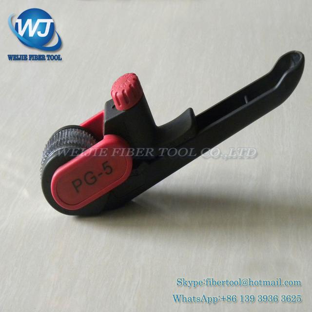 PG-5 cable De Fibra óptica stripper aislamiento