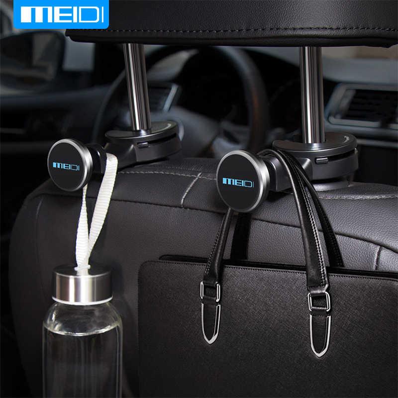 Uchwyt MEIDI do telefonu w samochodzie mocowanie zagłówka samochodowy magnetyczny uchwyt na telefon zapięcia samochodowe do telefonu na zagłówku, zamocuj metalowy pręt