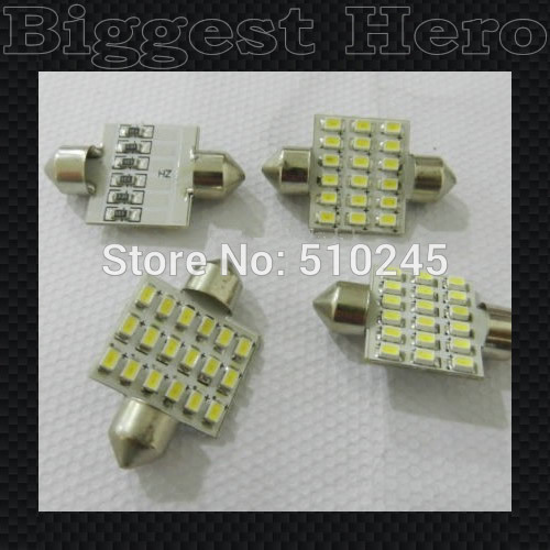 100X hot sales 41mm Festoon Dome C5W 18 SMD 3020 1206 LED Car Interior Bulb Light Lamp White Quickly Delivery Free Shipping