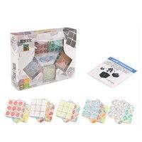 MoYu 5PCS/Set 3x3x3 Transparent Plastic Speed Puzzle Cube Educational Toys For Kid Gift Twist Magico Cubo Brain Test Magic Cube