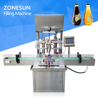 ZONESUN Automatic beverage production line cans beer honey paste oil filling machine supplier
