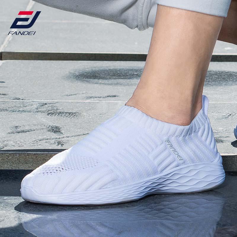 FANDEI mujeres zapatillas Zapatillas zapatos para mujer deportes al aire libre Slip-on verano malla transpirable Zapatos de deporte cómodo