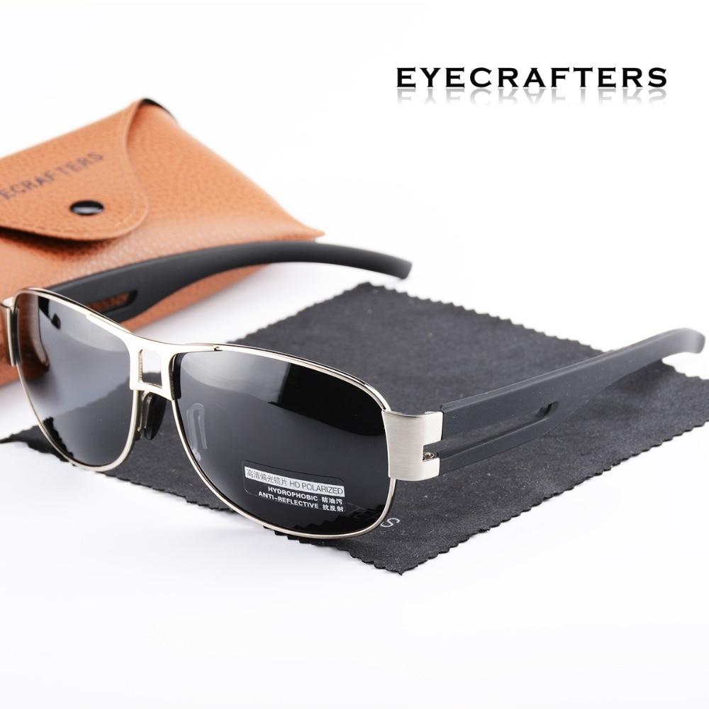 Eyecrafters Marca Designer óculos de Sol UV400 Moda Óculos Polarizados  Condução Óculos De Sol Dos Homens de Metal Arma 04c8e7a04b
