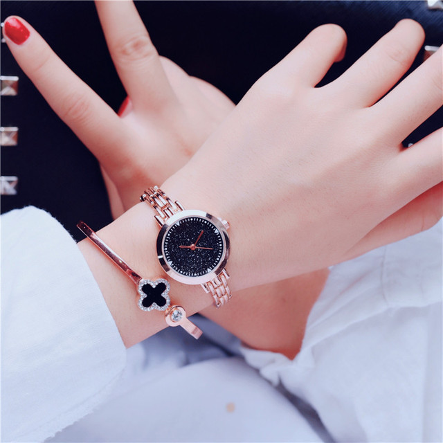 Exquisite Simple Women's Fashion Elegant Watches Starry sky BGG Top Luxury Brand