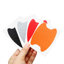 4Pcs Car Door Sticker Scratches Resistant Cover Body Decoration Auto Handle Protection Film Exterior Accessories Car-styling