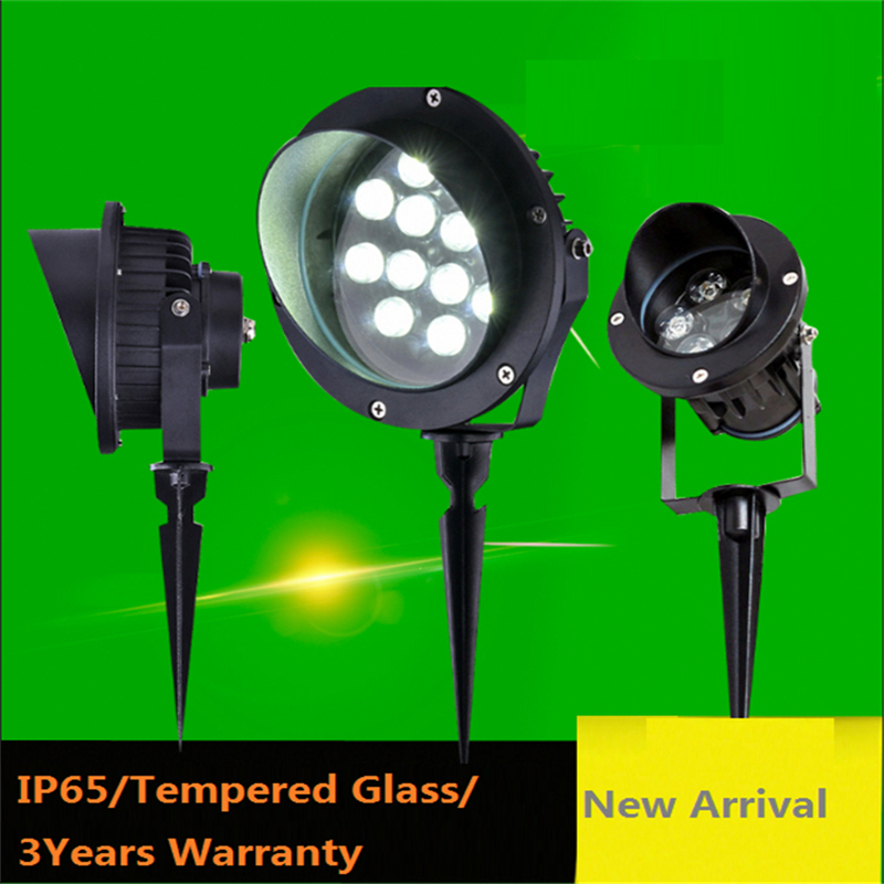 Spike Model IP65 Outdoor Led Spot Lamp For Garden ,park ,trees ,afforest,landscape ,100-240V Input 3W/6W/9W.12W.18W Spot Light
