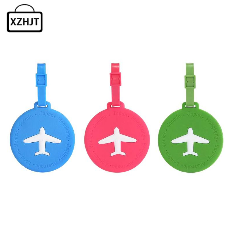 Fashion Luggage Tags Silica Gel Funky Travel Luggage Label Straps Suitcase Laggage bags Accessories