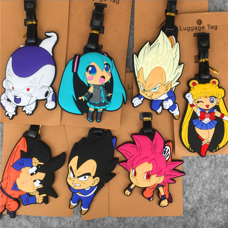 Dragon Ball Sailor Moon Anime Travel Accessories Luggage Tag Suitcase ID Address Portable Tags Holder Baggage Label New