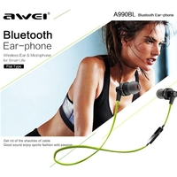 AWEI A990BL Bluetooth 4 0 Earphone Bluetooth Stereo Earphone Wireless Sport Wire Control Headphone Noise Isolation