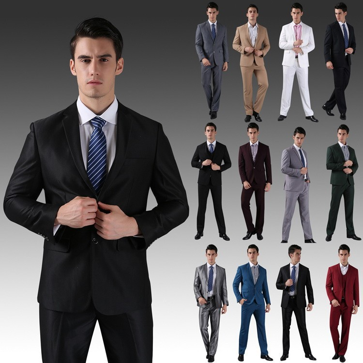 Aliexpress.com : Buy (Jackets Pants) New Men Suits Slim Custom Fit ...