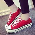 De alta Calidad de Las Mujeres Ocasionales Zapatos de Plataforma de La Lona de La Vendimia Plana Zapatos Aumento de la Altura Pisos Zapatos Mujer WholesaleS184 Superstar