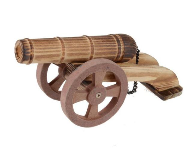 1pc/pack Children wooden big gun cannon for outdoor toys/ Kids wood artillery / ordnance toys for boys gifts, free shipping