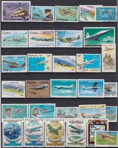 Image 4 - Самолёт, 250 шт./лот, без повторов, почтовые марки без повторов с почтовой маркой со всего мира для сбора