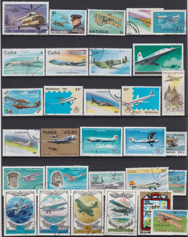 Image 4 - Plane , 250 Pieces / Lot No repeat  , Unsed Postage Stamps With Post Mark From World Wide  For Collecting-in Stamps from Home & Garden