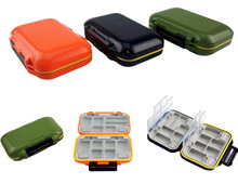 Portable Double Sided Fishing Tackle Boxes Multifunction DIY Compartments Lures Container Box Gear Accessories