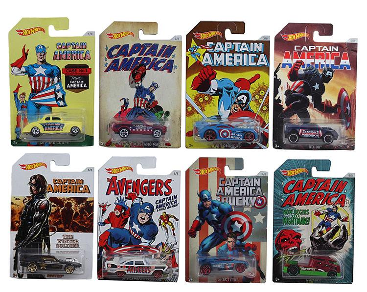 Hot Wheels 1:64 Sports Car CAPTAIN AMERICA Marvel Collector Edition Diecast Metal Model Race Car Kids Gift