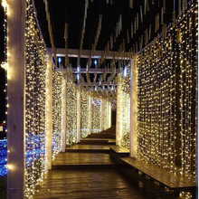 LED Curtain Icicle String Light 3x1/3x2/3x3/3x6m Connectable Christmas Garland Lights Indoor/Outdoor Party Wedding Decor lights