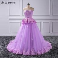 Винтаж Фиолетовый бальное платье для выпускного вечера новый Дизайн принцесса вечернее платье Vestidos кружева аппликация Формальные Платья д