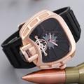 Hombres Del Reloj de lujo Famosa Marca de Silicona Reloj de Oro Reloj de Pulsera Deporte Militar Reloj de Cuarzo $ Number Bar Impermeable Relogio masculino