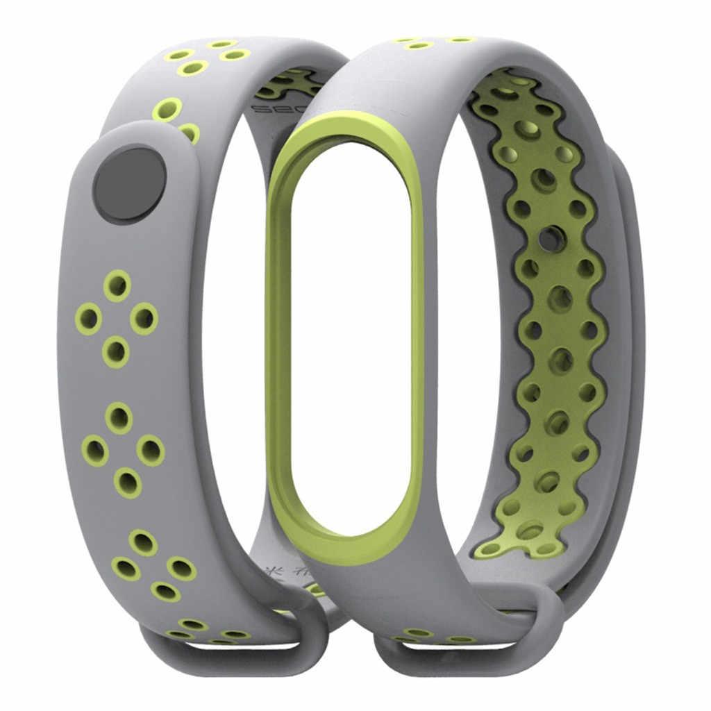 Tonton Strap Watch Band Pria Karet Tali Pergelangan Tangan Gelang Gelang Pengganti untuk Xiaomi Mi Sabuk 3 Mi Band Strap NATO untuk jam Tangan