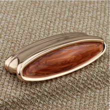 76mm Fashion deluxe furniture decorate handles rose gold drawer cabinet pull knob 3 amber dresser cupboard