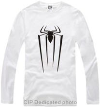 New Men's long sleeve T shirt The Amazing Spider-Man Cotton Top Casual Hooded Fashion